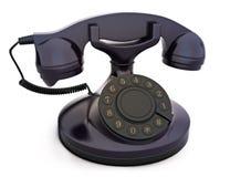 Retro vintage telephone. On a white background Royalty Free Stock Image