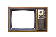 Retro Vintage television 1. Retro Vintage television  on a white background Stock Photo