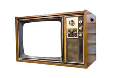 Retro Vintage television 1. Retro Vintage television  on a white background Royalty Free Stock Photo