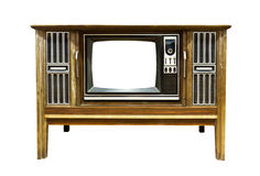 Retro Vintage television 2. Retro Vintage television  on a white background Stock Image
