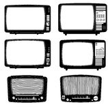 Retro - vintage televisions Royalty Free Stock Photo