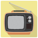 Retro vintage televison set vector icon Stock Image