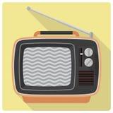 Retro vintage televison set vector icon Stock Image