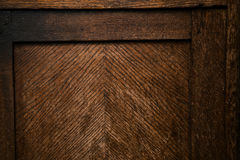 Retro Vintage textured wooden surface. Grunge dark background of wood. Detail of vintage furniture Stock Photography