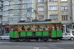 RETRO Vintage Tram Siemens on the streets of Sofia Stock Photo