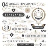 Retro vintage typographic design elements Royalty Free Stock Photography