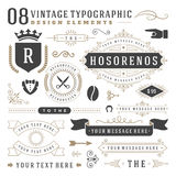 Retro vintage typographic design elements Stock Images