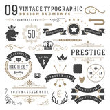 Retro vintage typographic design elements Royalty Free Stock Photography