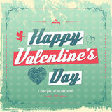 Retro vintage Valentine's day greeting card design Royalty Free Stock Photos