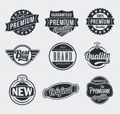 Retro Vintage Vector labels Stock Photos