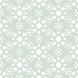 Retro vintage vector seamless pattern with simple floral shapes, circles, dots stock illustration