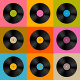 Retro, Vintage Vector Vinyl Record Disc Royalty Free Stock Photos