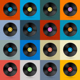 Retro, Vintage Vector Vinyl Records Set Royalty Free Stock Images