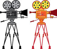 Retro Vintage Video Projector Camera Movie Vector Stock Photo
