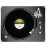 Retro vintage vinyl player  Royalty Free Stock Image