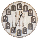 Retro vintage wall clock isolated Stock Image