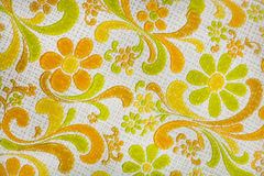 Retro vintage wallpaper background. Lime, orange, yellow 1970s retro vintage wallpaper background Royalty Free Stock Photography
