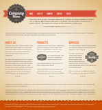 Retro vintage web page template. Retro vintage grunge web page template - red version Stock Photos