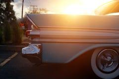 Retro vintage white car. Autoshow. royalty free stock photography