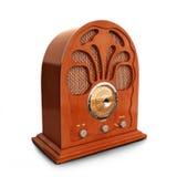 Retro vintage wood radio. On a white background Royalty Free Stock Image