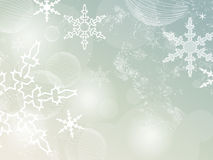 Retro vinterbakgrund Stock Illustrationer