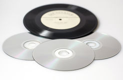 Retro vinyl and CD Stock Photography