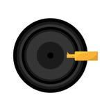 Retro vinyl disc record music. Vector illustration eps 10 Royalty Free Stock Images