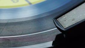 Retro vinyl on electrophone stock footage