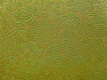 Retro vinyl groen bloemenontwerp Stock Foto's