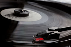 Retro vinyl music audio player with needle Royalty Free Stock Photography