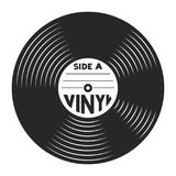 Retro vinyl record concept. In vintage style isolated vector illustration Stock Photos