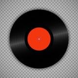 Retro vinyl record isolated on transparent. Vintage 1980s muscal album storage illustration. Retro vinyl record isolated on transparent. Vintage 1980s muscal stock illustration