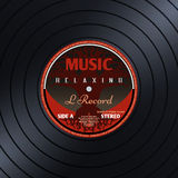 Retro vinyl record label music poster vector background Stock Photography