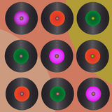 Retro vinyl records Royalty Free Stock Photo