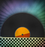 Retro vinyl records Stock Photography