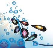 Retro vinyl records burst Royalty Free Stock Image