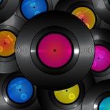 Retro vinylbakgrund för vektor vektor illustrationer