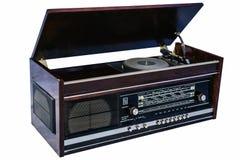 Retro vinylgrammofoon Royalty-vrije Stock Afbeelding