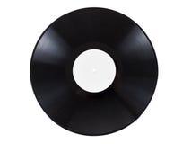 Retro vinylljudsignalrekord med skrapor som isoleras på vit bakgrund Royaltyfria Bilder