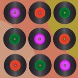 Retro Vinylsätze Lizenzfreies Stockfoto