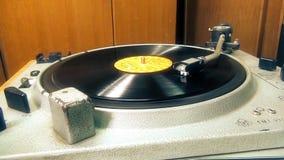 Retro vinylskivtallrik lager videofilmer