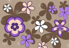 Retro- violetter Blumenhintergrund Stockfotos
