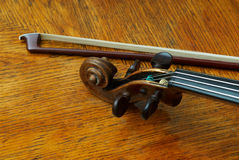 Retro violin close-up Stock Images