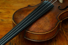 Retro violin close-up Royalty Free Stock Images