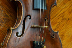 Retro violin close-up Royalty Free Stock Image