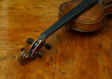 Retro violin close-up Royalty Free Stock Photos