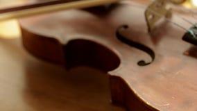 Retro violin. stock video