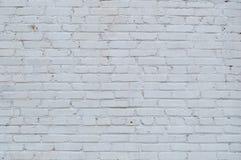 Retro vit textur för tegelstenvägg Royaltyfria Bilder