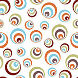 Retro vivid circles pattern Royalty Free Stock Image