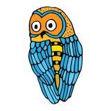 Retro vivid owl illustration Royalty Free Stock Photos